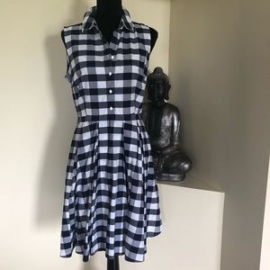 NWOT Nine West gingham print cotton dress